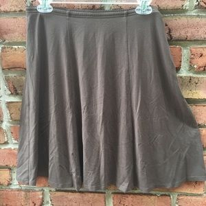 J.Jill Brown Wearever Collection Swing Skirt Small